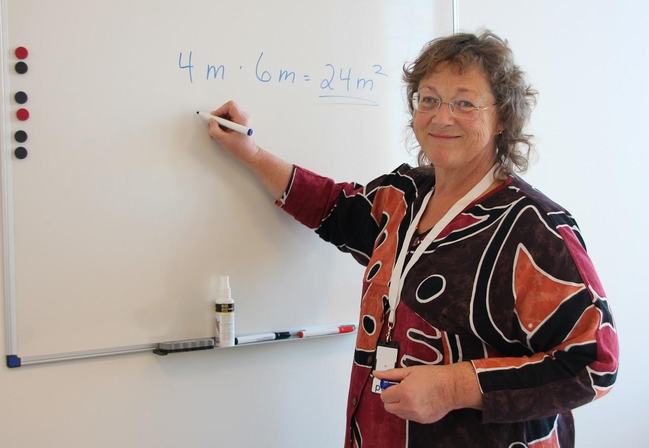 Arnhild er vår nye lærer