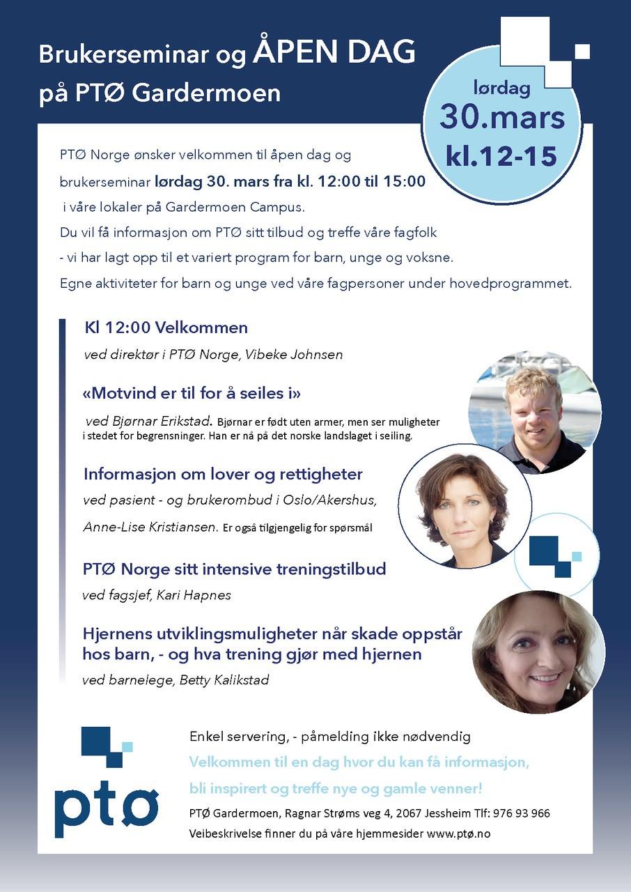 Bilde av invitasjonen til åpen dag 30. mars.